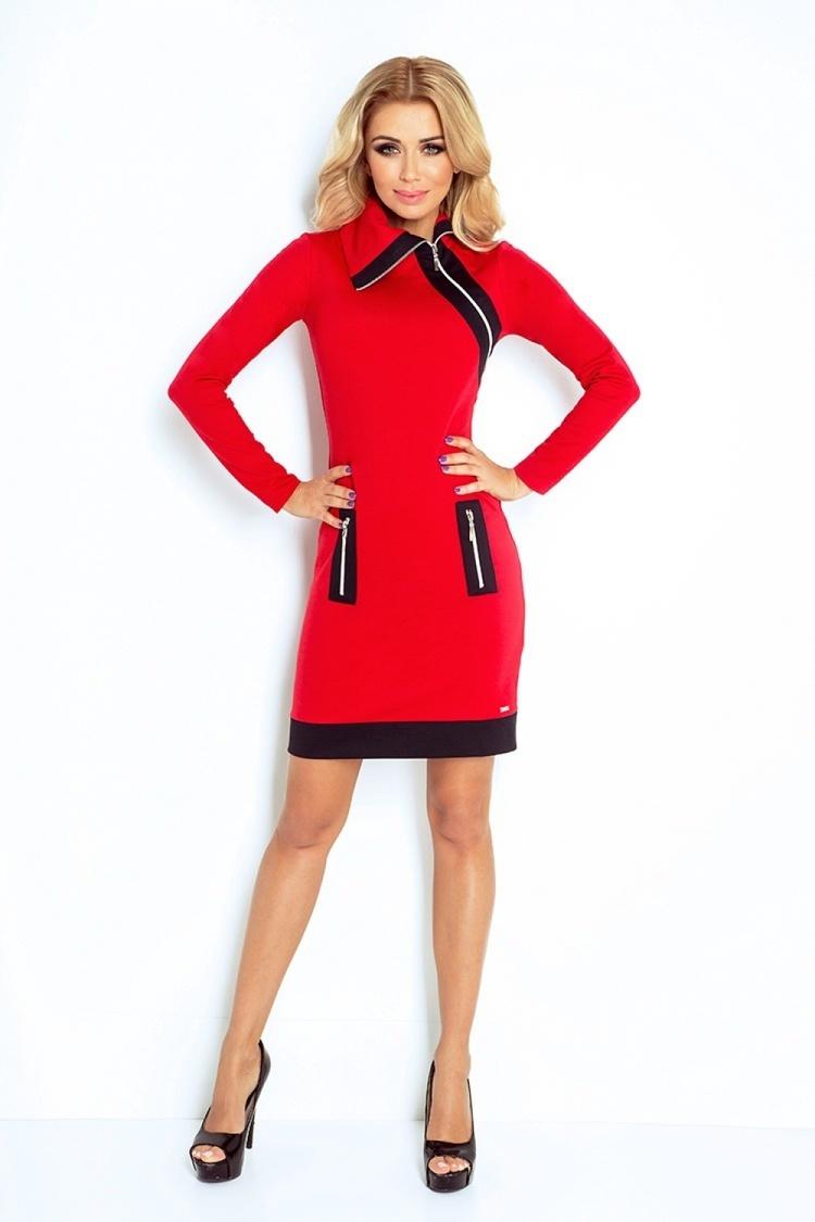 Sukienka Model 129-3 Justyna Red/Black - Numoco