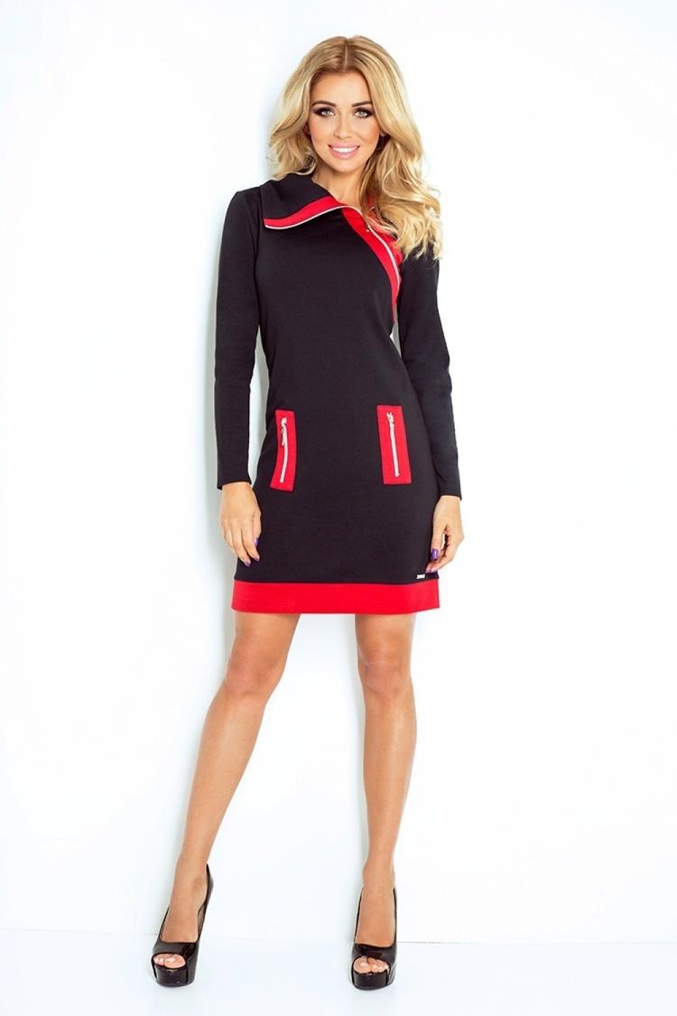 Sukienka Model 129-4 Justyna Black/Red - Numoco