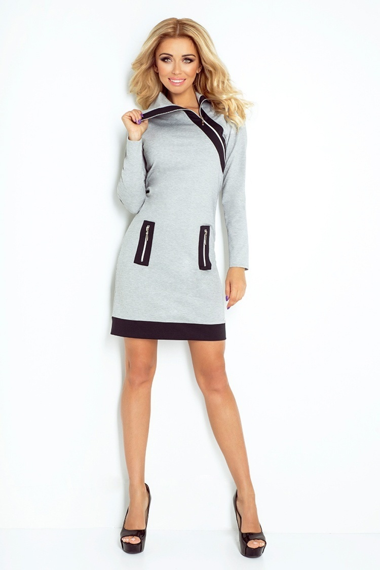 Sukienka Model 129-1 Justyna Grey/Black - Numoco