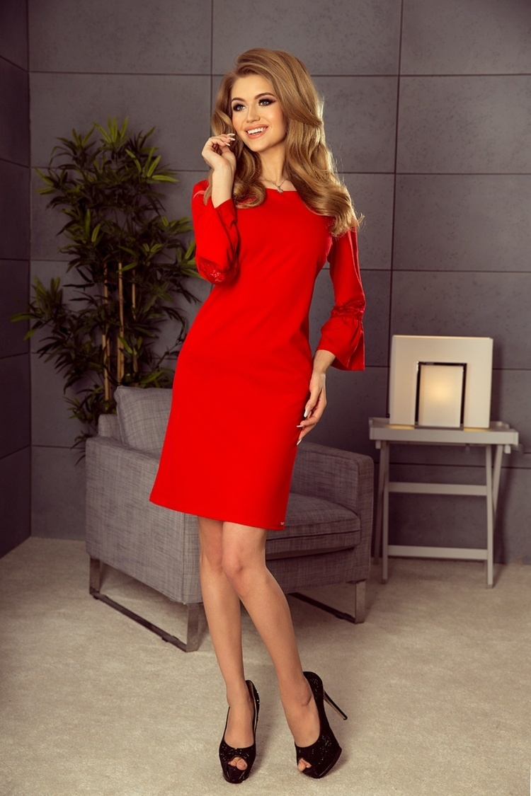 Sukienka Model 190-3 Margaret Red - Numoco