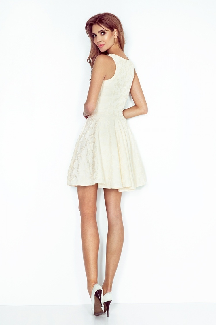 Sukienka Model 125-17 Ecru - Numoco