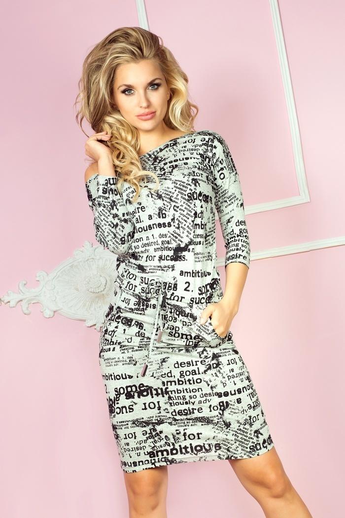 Sukienka Model 13-27 Light Grey - Numoco