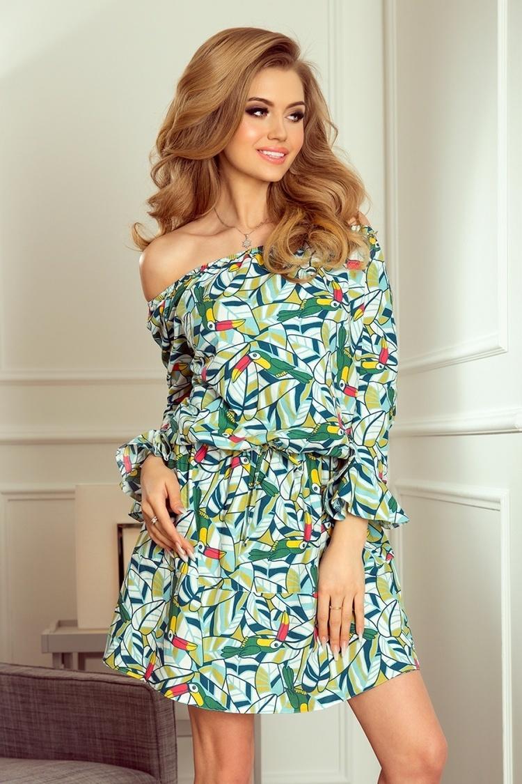 Sukienka Model 198-4 Julie Zielone Tukany - Numoco