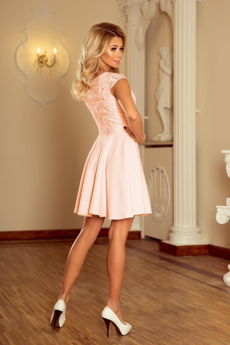 Sukienka Model Marta 157-7 Brzoskwinia - Numoco