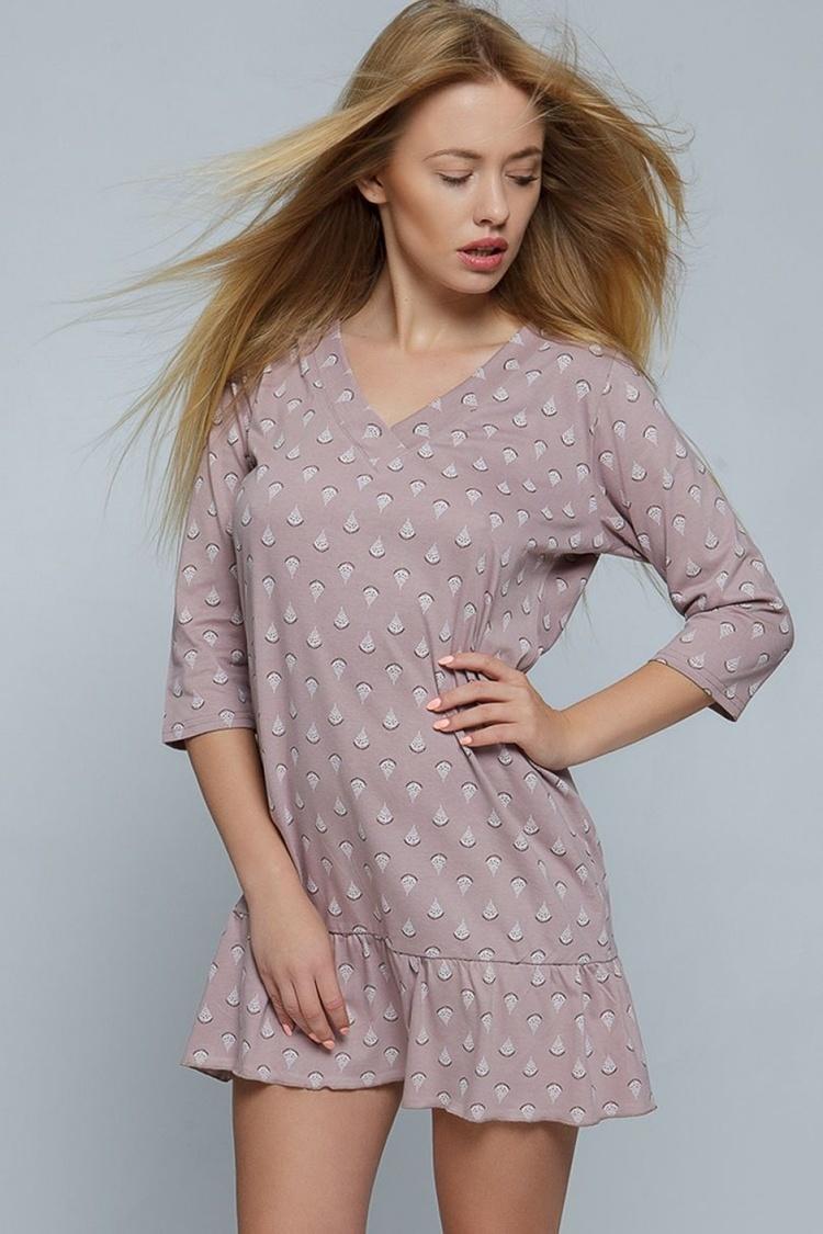 Koszulka nocna Koszula Nocna Model Pam Cappucino - Sensis