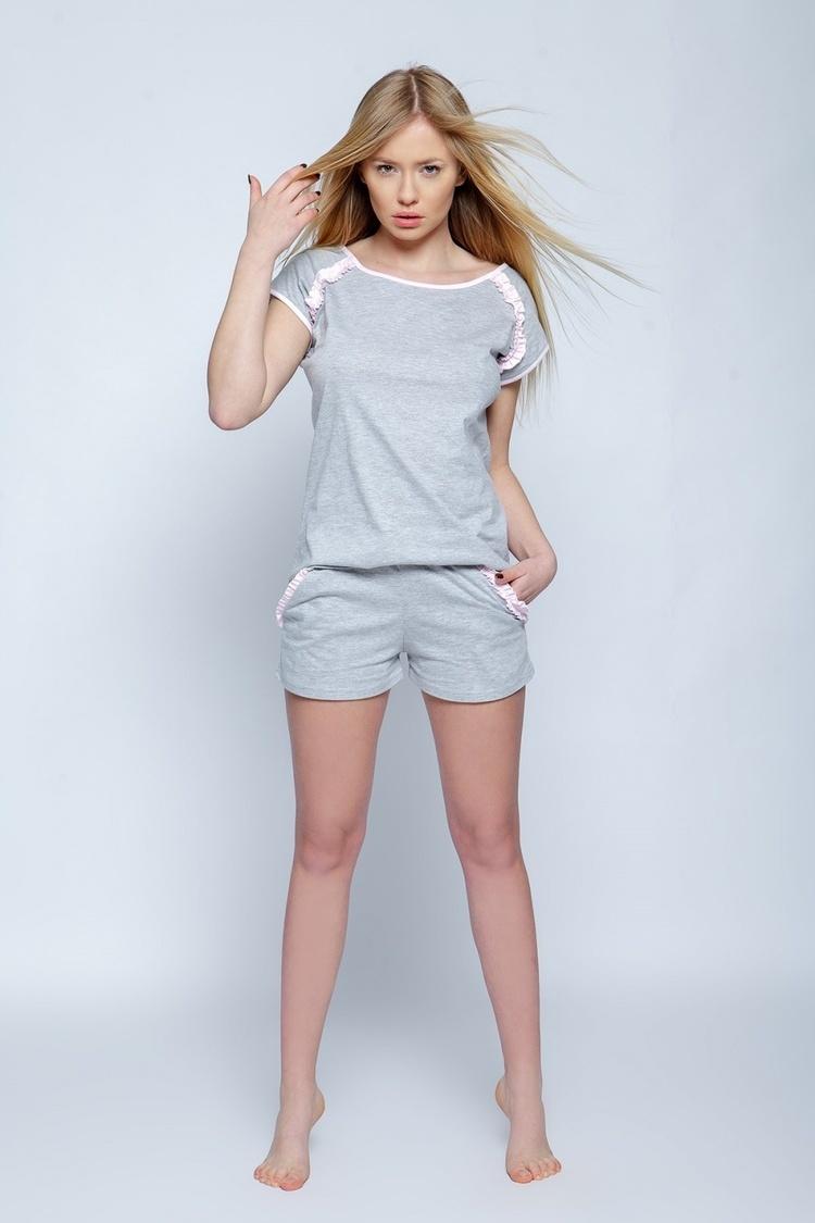 Piżama Damska Model Sisi Grey - Sensis