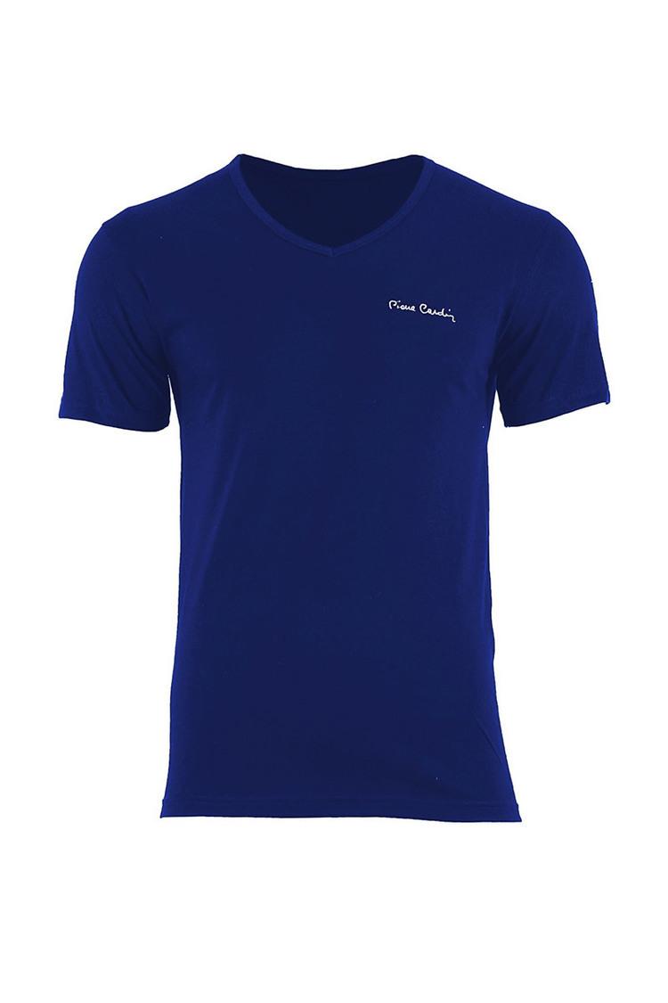 T-shirt Męski Model Luca Vneck Navy - Pierre Cardin