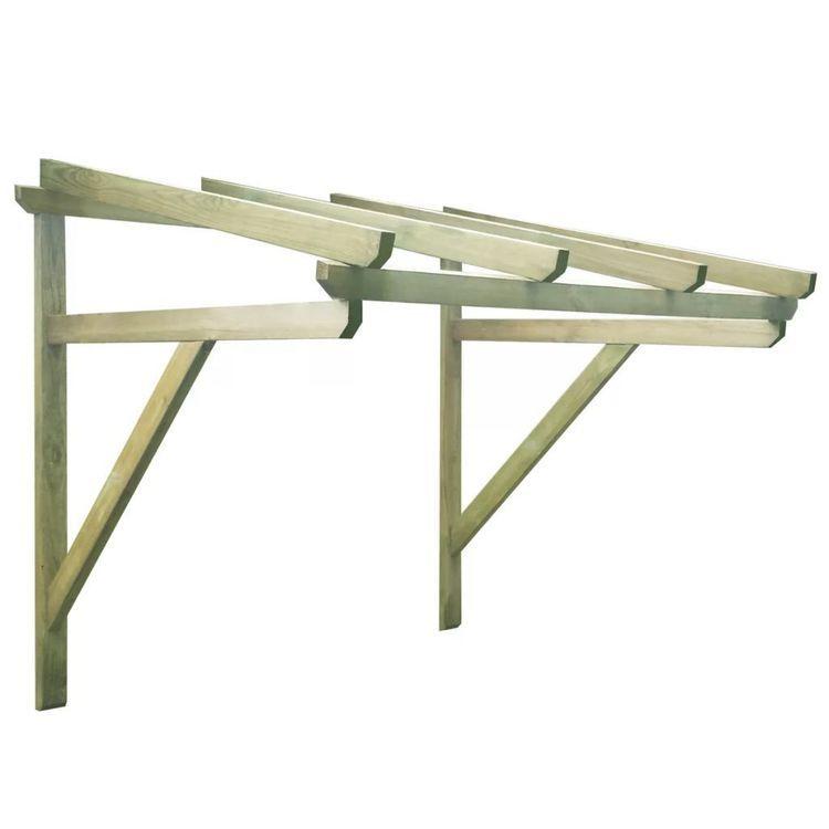 Zadaszenie nad drzwi 150 x 150 x 160 cm, drewno FSC