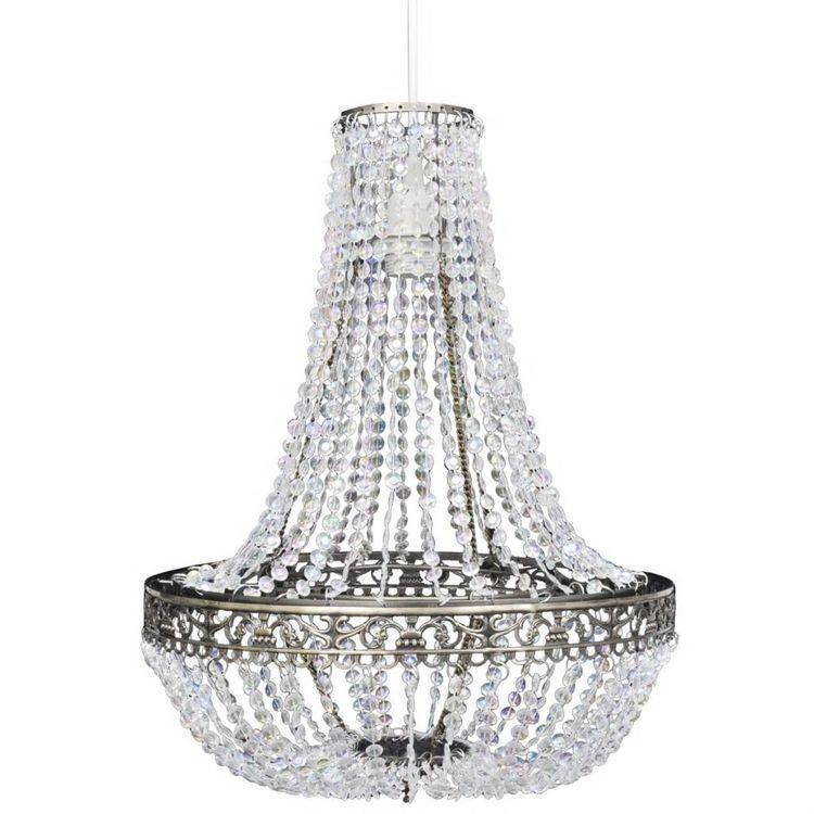 Kryształowa lampa wisząca, 36,5 x 46 cm