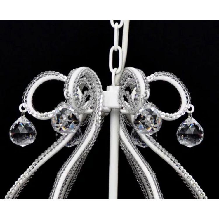 Żyrandol z 2300 kryształami, biały