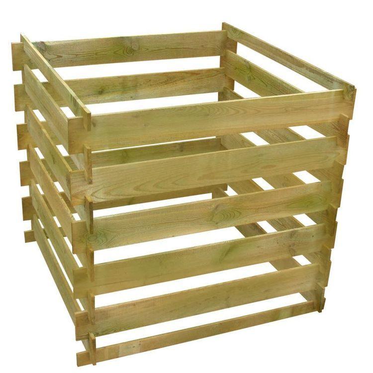 Kompostownik z listew 0,54 m3, kwadratowy, drewno FSC