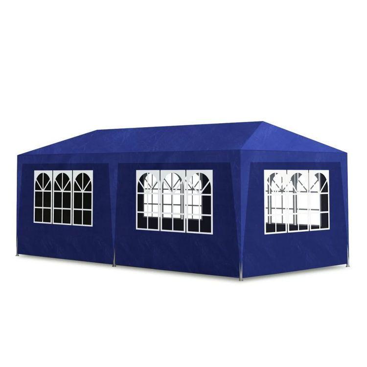 Namiot imprezowy, 3 x 6 m, niebieski