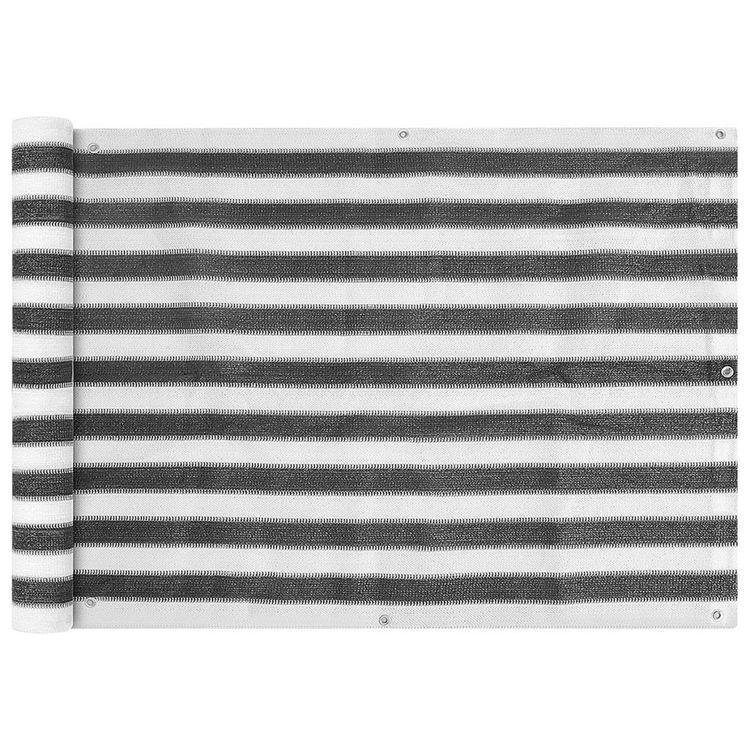 Parawan ogrodowy HDPE 75x400 cm Antracytowy i Biały