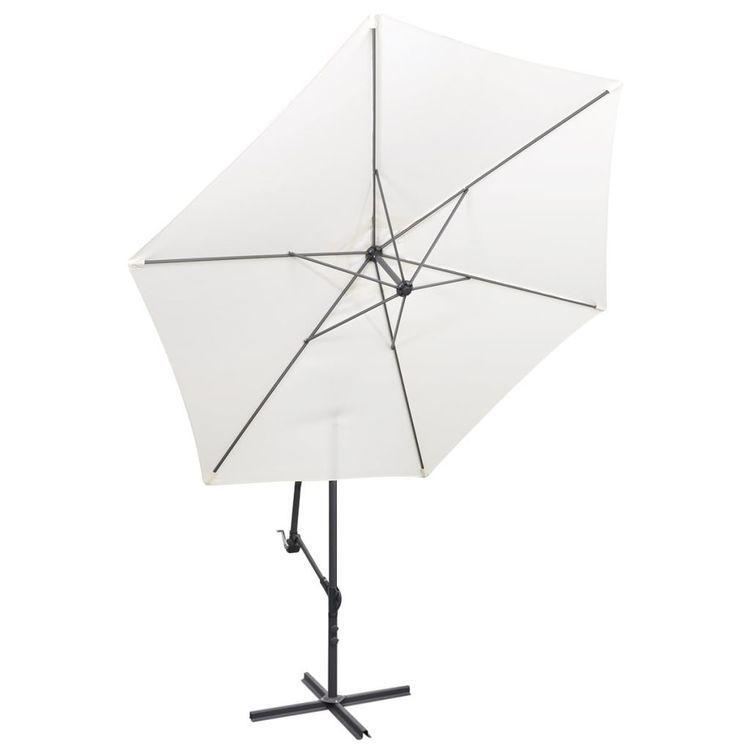 Parasol na wysięgniku 3 m, biały