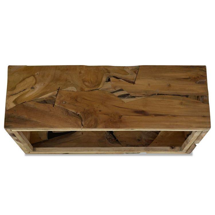 Stolik kawowy z drewna tekowego, 90 x 50 x 35 cm, brązowy