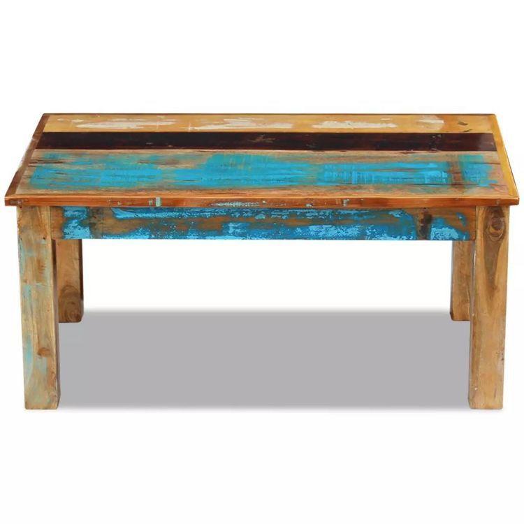 Stolik Kawowy Z Drewna Odzyskanego 100x60x45 Cm Shumee