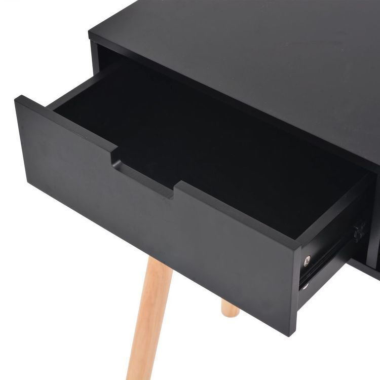 Stolik typu konsola, drewno sosnowe, 80x30x72 cm, czarny