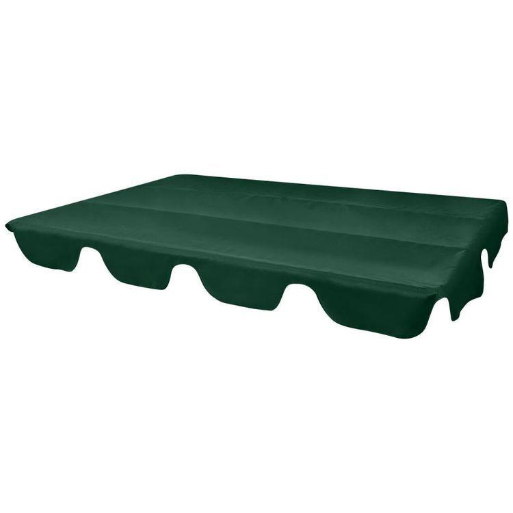 Zadaszenie do huśtawki ogrodowej, zielone, 226 x 186 cm