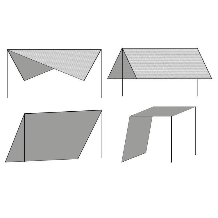 Żagiel przeciwsłoneczny ze słupkami, HDPE, 3 x 3 m, biały