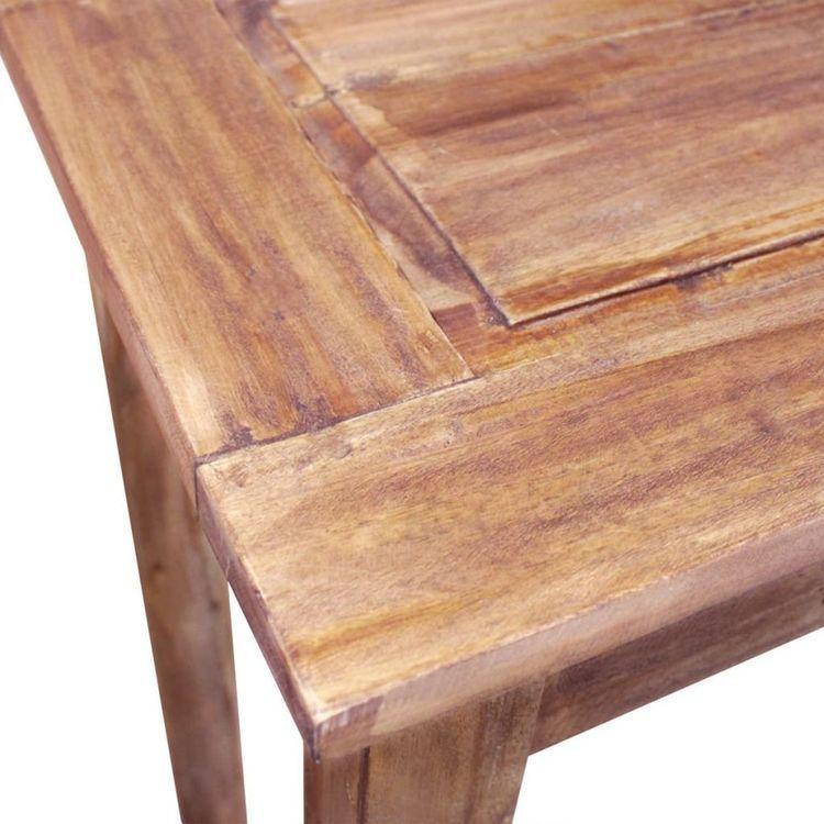 Stolik konsola, lite drewno z odzysku, 123 x 42 x 75 cm