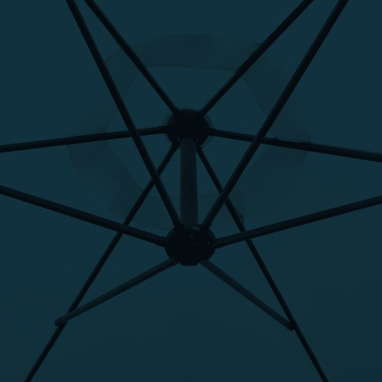 Parasol na wysięgniku 3 m, niebieski