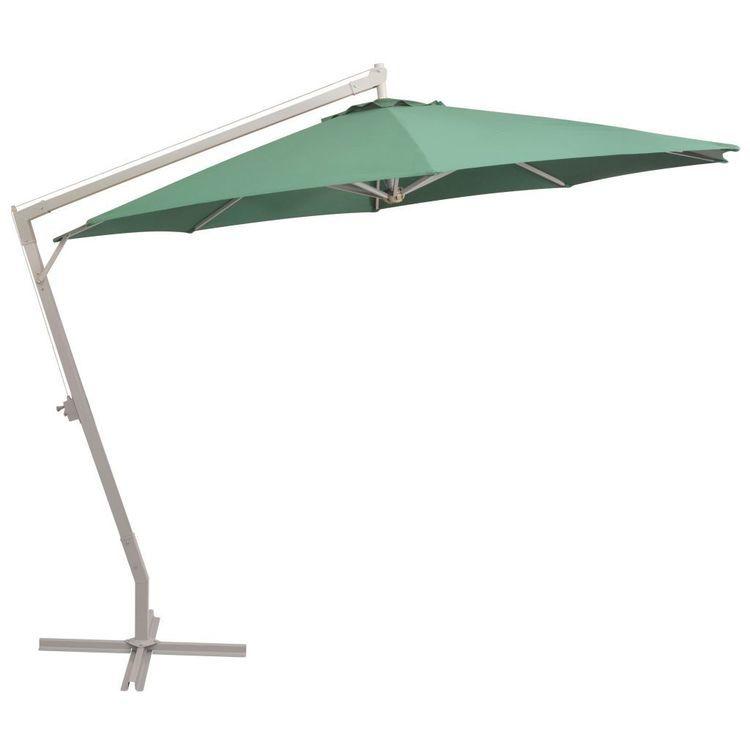 Parasol ogrodowy, wiszący, 350 cm, aluminiowy, piaskowy