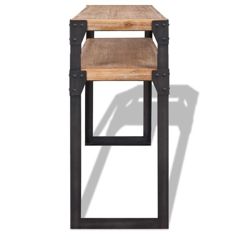 Stolik konsola z drewna akacjowego 120x40x85 cm