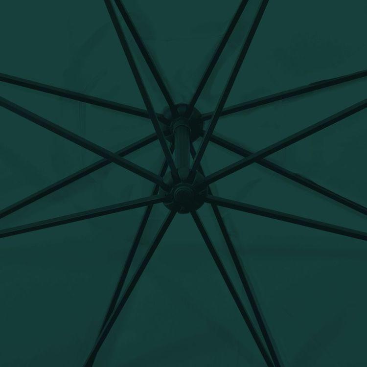 Parasol na wysięgniku 3,5 m, zielony