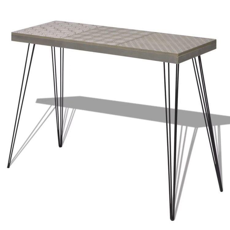 Stolik-konsola, szara, 90x30x71,5 cm