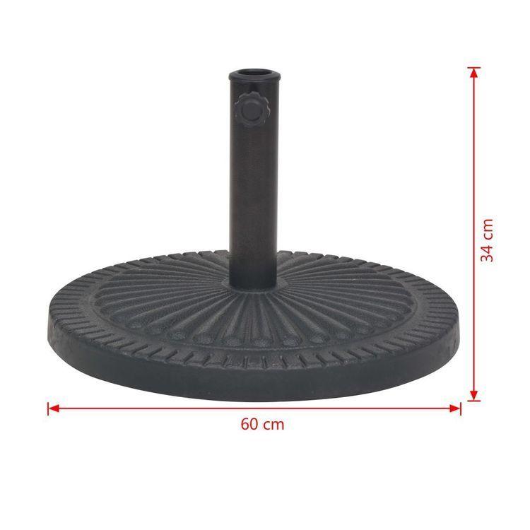 Podstawa do parasola, okrągła, czarna, 29 kg, z żywicy