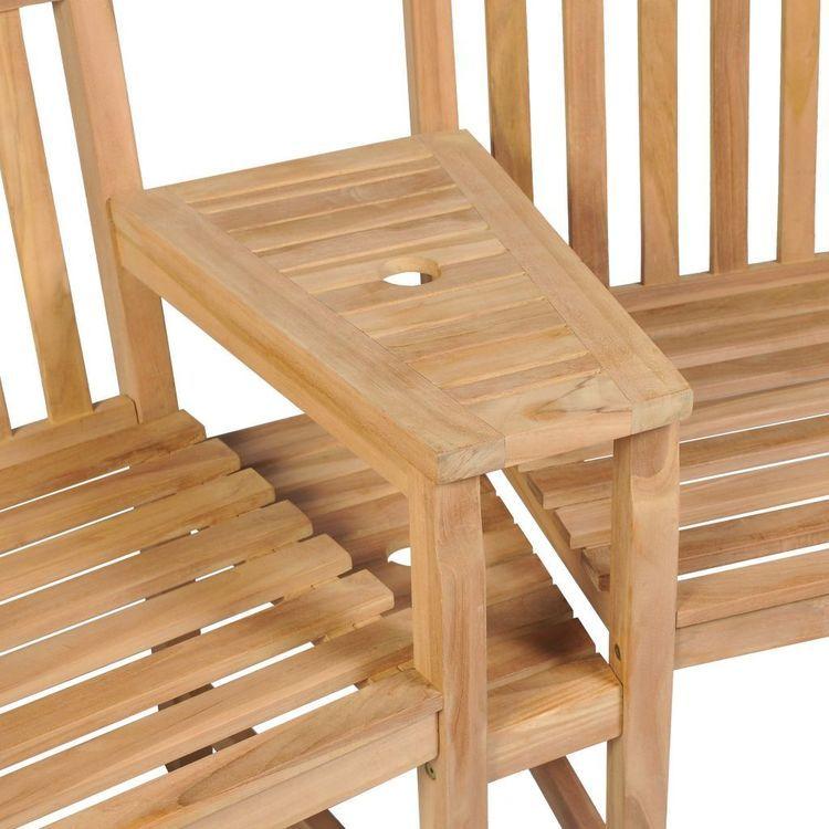 Krzesła ogrodowe z miejscem na parasol, 2 szt., drewno tekowe