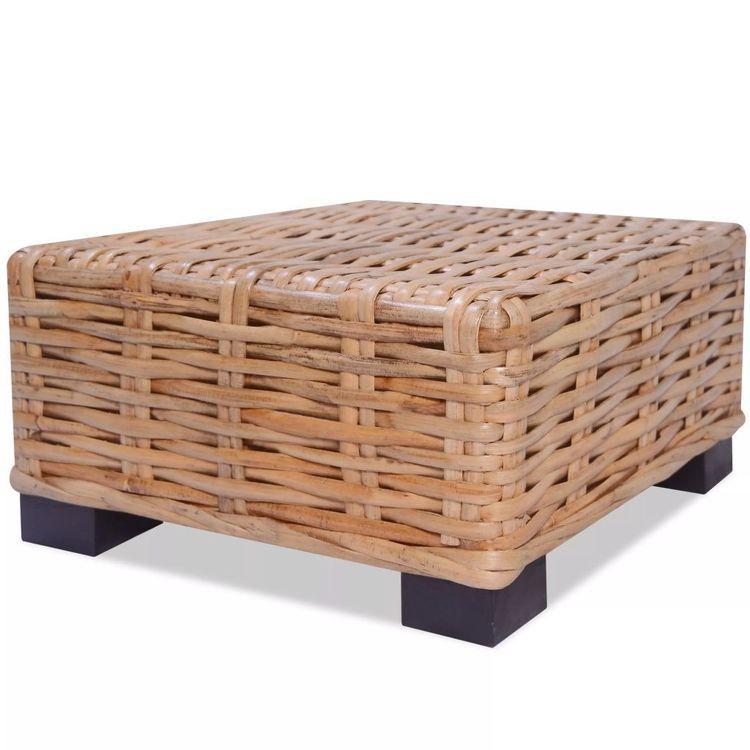 Stolik kawowy, naturalny rattan, 45 x 45 x 30 cm