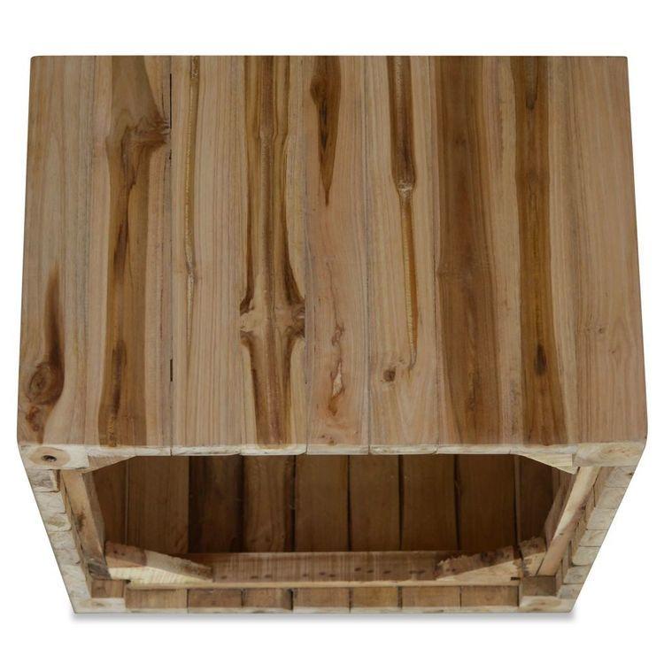 Stolik kawowy z drewna tekowego, 50 x 50 x 35 cm