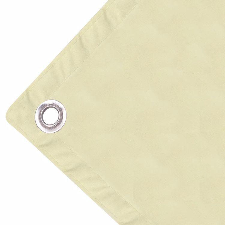 Parawan balkonowy z tkaniny oxford 75x600 cm kremowy