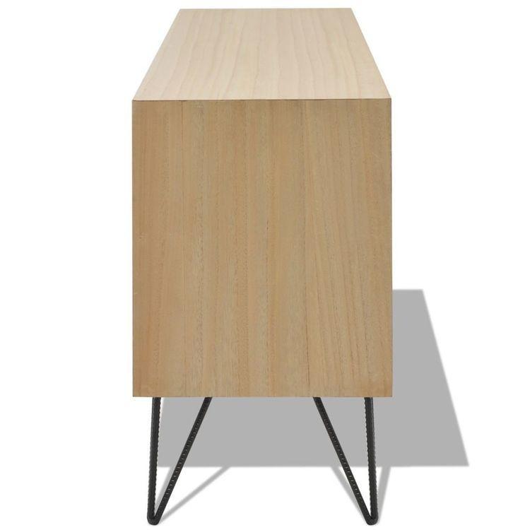 Szafka pod TV z MDF, 120x30x50 cm, brązowa