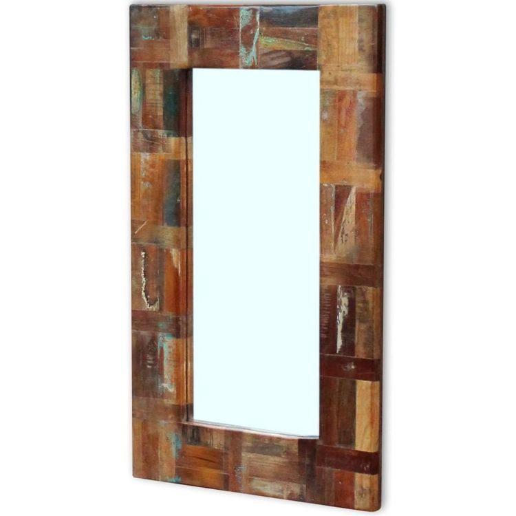 Lustro z drewna odzyskanego 80x50 cm