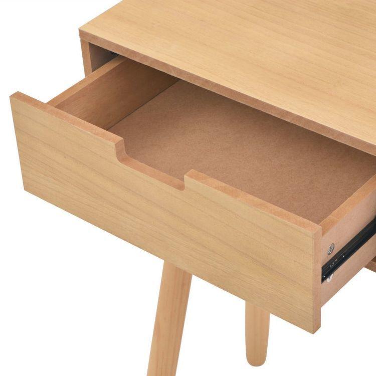 Stolik typu konsola, drewno sosnowe, 80x30x72 cm, brązowy