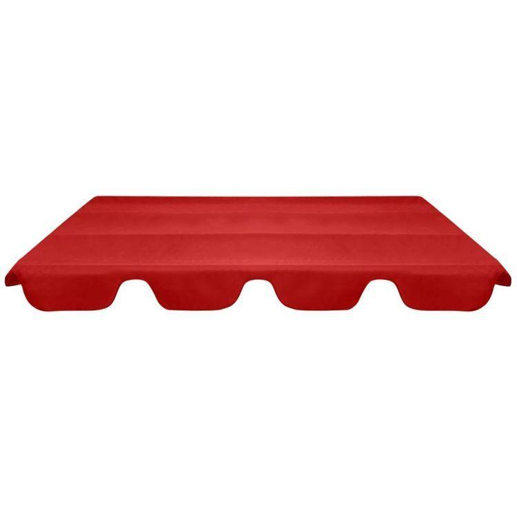 Zadaszenie do huśtawki ogrodowej, czerwone, 226 x 186 cm
