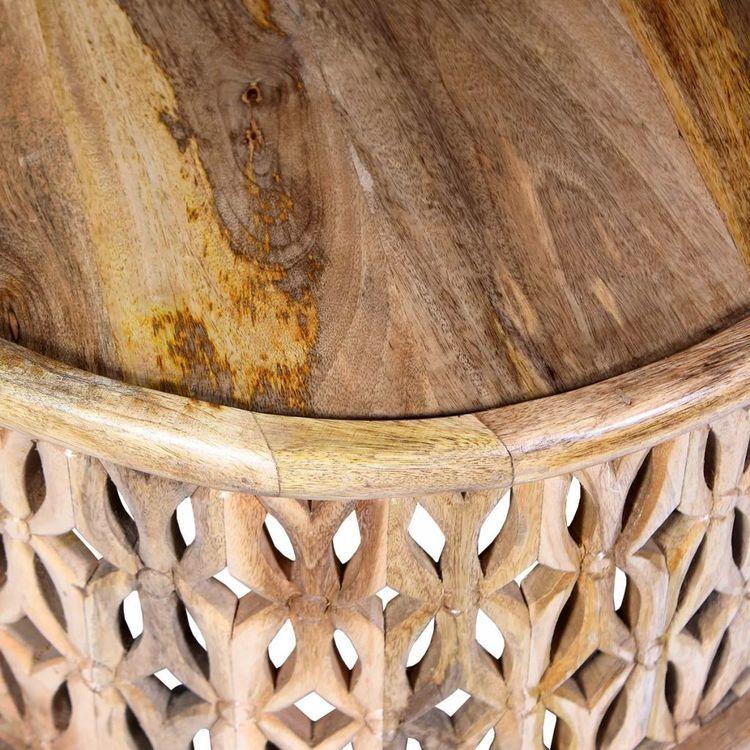 Zestaw stolików kawowych, 2 szt., lite drewno mango