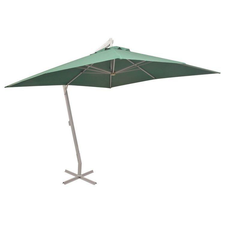 Parasol ogrodowy, wiszący, 300 x 300 cm, aluminiowy, zielony