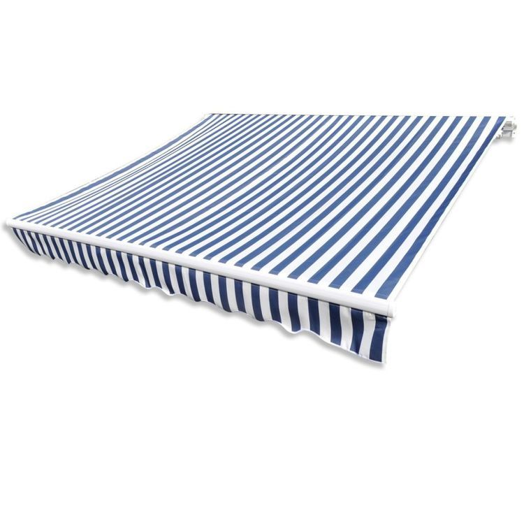 Tkanina do markizy, niebiesko-biała, 3 x 2,5 m (bez ramy)