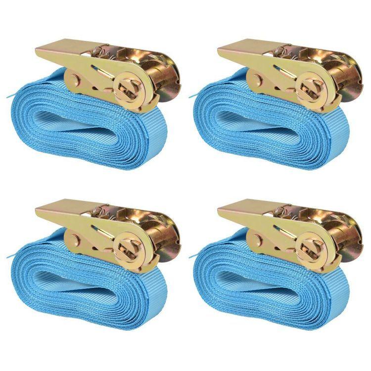 Pasy transportowe z zapadkami, 4 szt, 0,8 T, 6mx25mm, niebieski