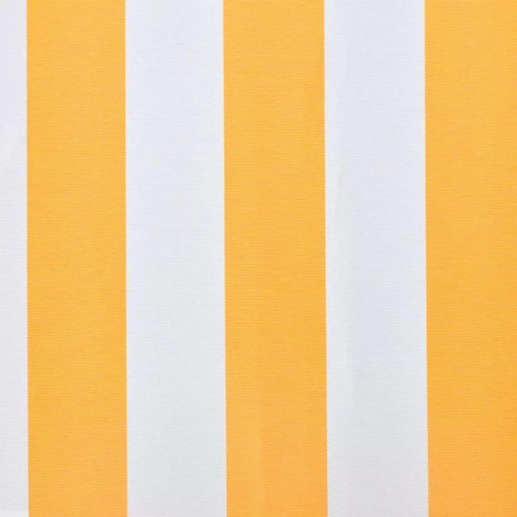 Tkanina do markizy, żółto-biała, 6x3 m (bez ramy)