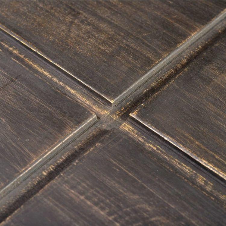 Kwadratowy stolik kawowy z litego drewna mango, ciemnobrązowy