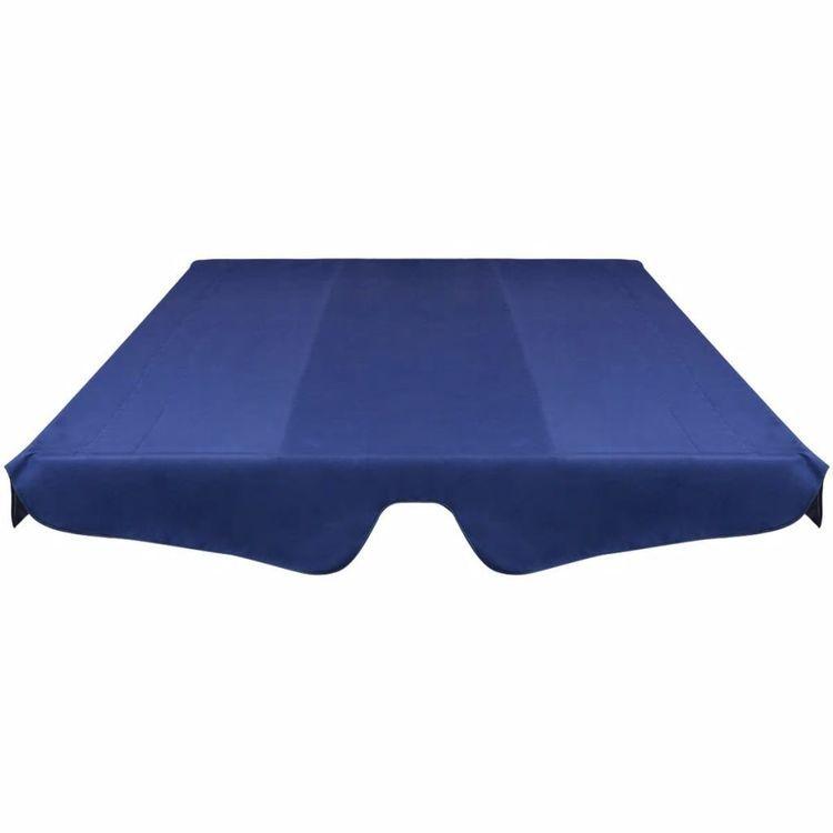 Zadaszenie do huśtawki ogrodowej, niebieskie, 226 x 186 cm