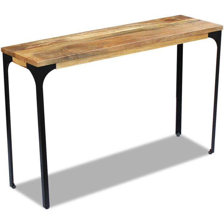 Stolik - konsola z drewna mango 120x35x76 cm