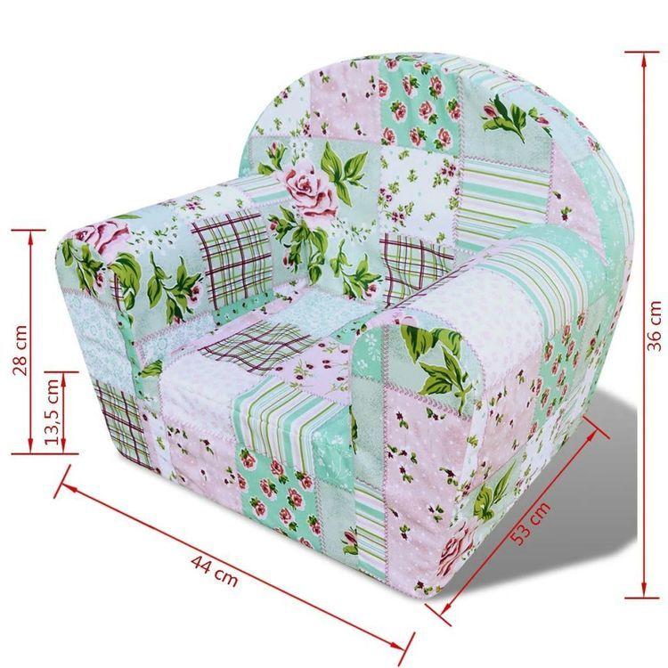 Fotelik dziecięcy wzór w kwiaty