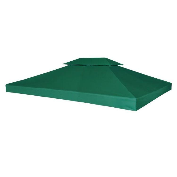 Zadaszenie altany ogrodowej, 310 g/m², zielone, 3x4 m