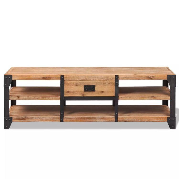 Szafka pod TV z drewna akacjowego, 140x40x45 cm