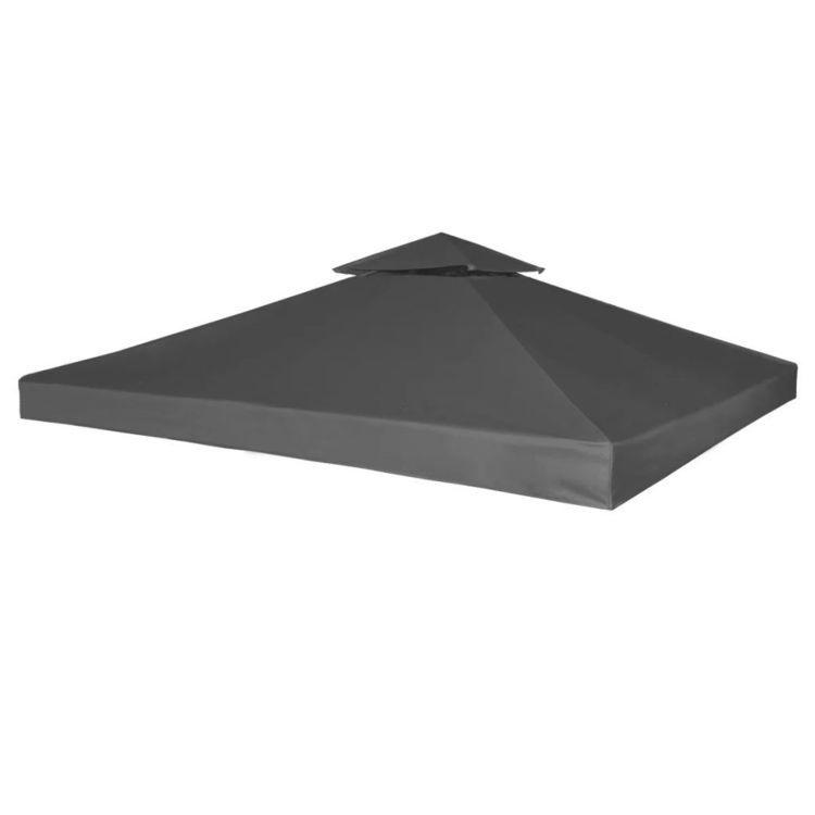 Zadaszenie altany ogrodowej, 310 g/m², ciemnoszary, 3x3 m